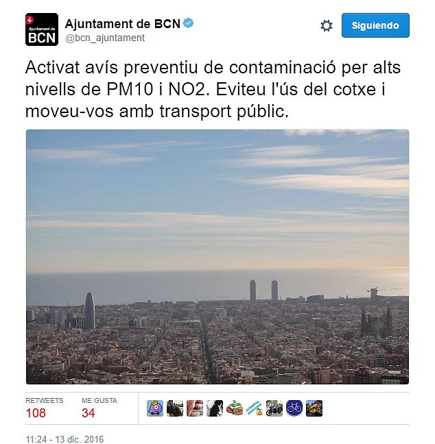 Ayuntamiento de Barcelona advierte de los riesgos